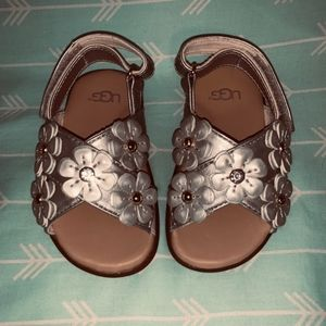 Ugg Silver Daisy Sandals toddler Size 4/5